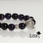 Lotas 雲系列--紫水晶狐狸銀手鍊